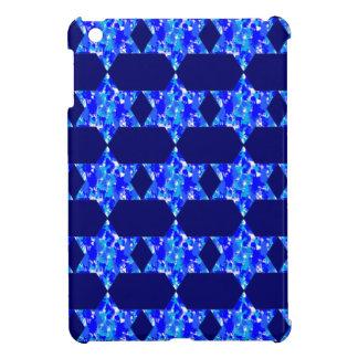 Blue Paint Splatter Jewish Stars iPad Mini Cover
