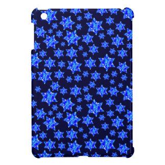 Blue Paint Splatter Jewish Stars iPad Mini Cases