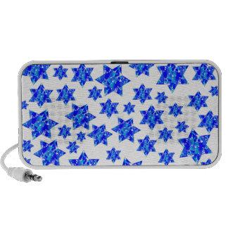Blue Paint Splatter Jewish Stars Mini Speaker