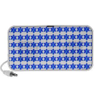 Blue Paint Splatter Jewish Stars Mp3 Speakers