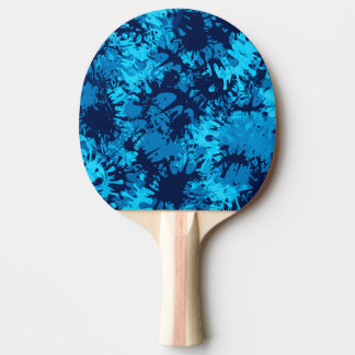 Blue Paint Splatter Ping Pong Paddle