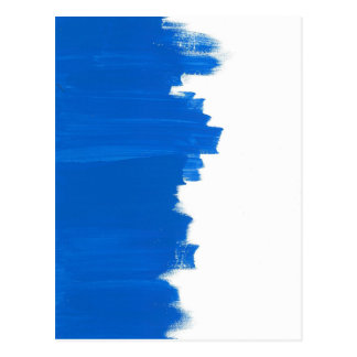 Blue paint texture/blue painting postcard