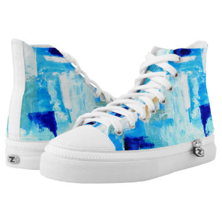 Blue Painted High Tops