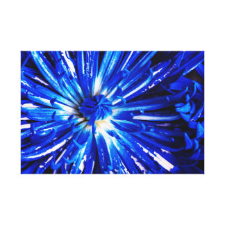 Blue Painted Petals Canvas