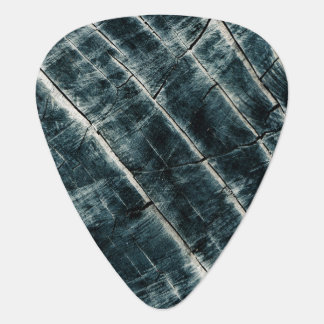 Blue Painted Wood Guitar Pick