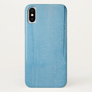 Blue painted wood iPhone X cover, barely there iPhone X Case