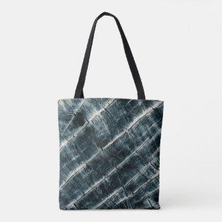 Blue Painted Wood Tote Bag