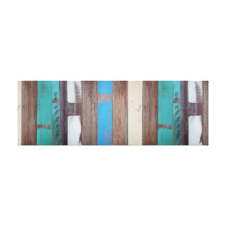 Blue Painted Wooden Panel. Canvas Print