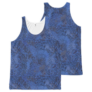 Blue Painterly Abstract All Over Print T-Shirt All-Over Print Tank Top