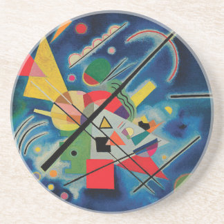 Blue Painting by Wassily Kandinsky Coaster