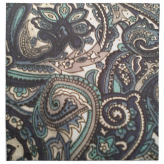 Blue Paisley All Over Napkin