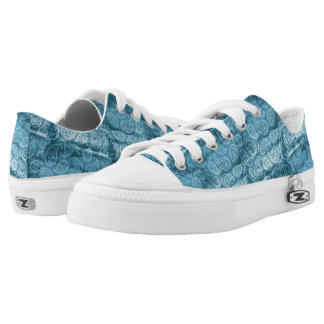 Blue Paisley Design Low Tops