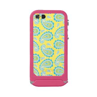 Blue Paisley on Yellow Incipio ATLAS ID™ iPhone 5 Case