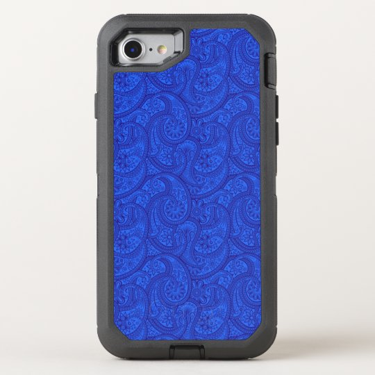 Blue Paisley OtterBox Defender iPhone 8/7 Case