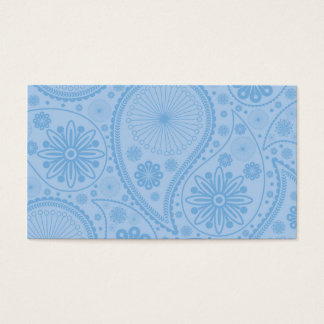 Blue paisley pattern business card