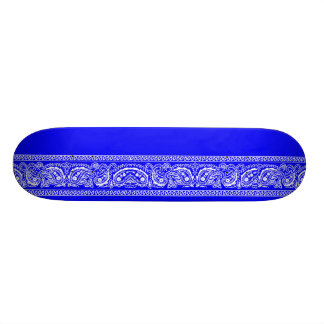 Blue Paisley Skateboard Pro