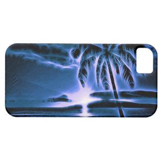Blue Palm Beach Sunset iPhone 5 Cases