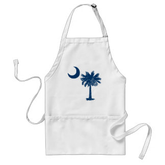 Blue Palmetto Apron