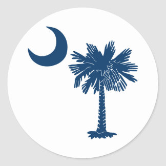 Blue Palmetto on White Sticker
