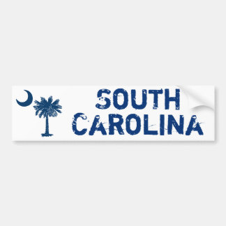Blue Palmetto South Carolina Bumper Sticker
