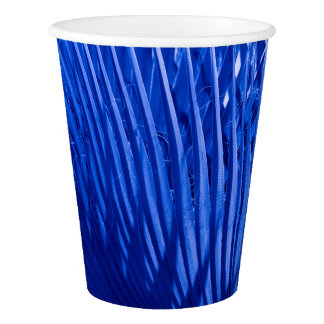 Blue Palms Paper Cup
