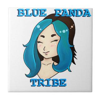Blue Panda Tribe logo Ceramic Tile