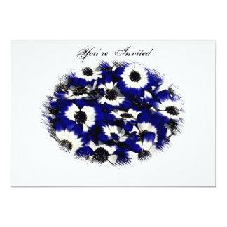 Blue Pansie Wedding Invitation