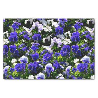 "Blue Pansies 10"" X 15"" Tissue Paper"