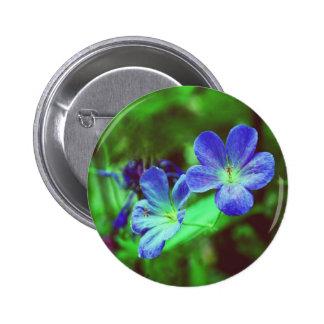 Blue Pansies Button