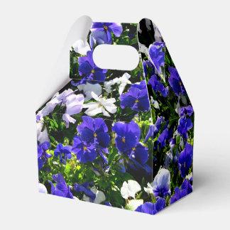 Blue Pansies Favour Box