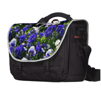 Blue Pansies Commuter Bags