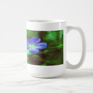 Blue Pansies Coffee Mugs