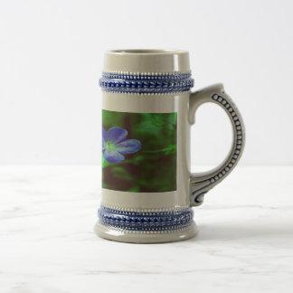 Blue Pansies Mug