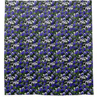 Blue Pansies Shower Curtain