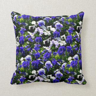 Blue Pansies Throw Cushions