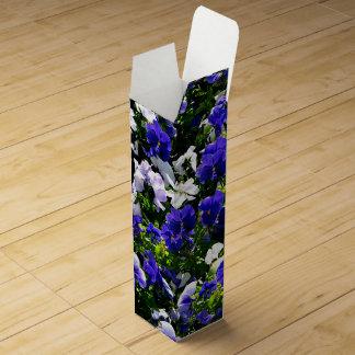 Blue Pansies Wine Bottle Box