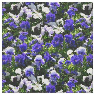 Blue Pansies Fabric