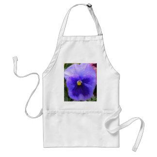blue pansy apron