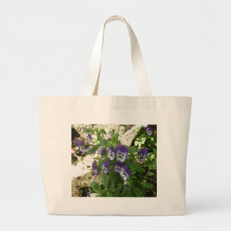 Blue Pansy Canvas Bag