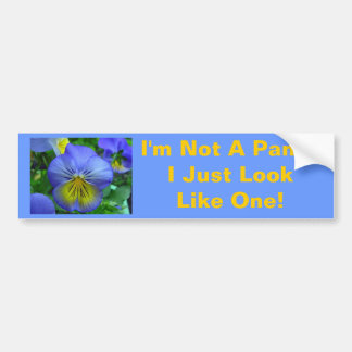 Blue Pansy Bumper Sticker