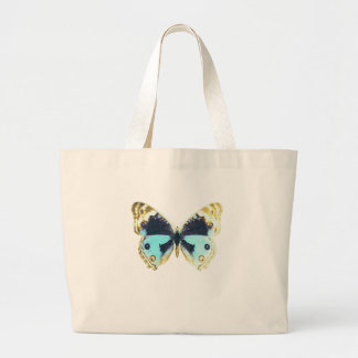 Blue Pansy Butterfly Tote Bag