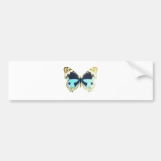 Blue Pansy Butterfly Bumper Stickers