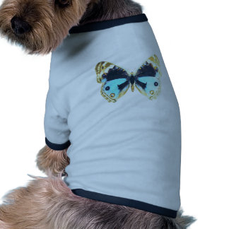Blue Pansy Butterfly Pet Tshirt