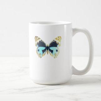 Blue Pansy Butterfly Mug