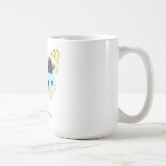 Blue Pansy Butterfly with Name Mugs