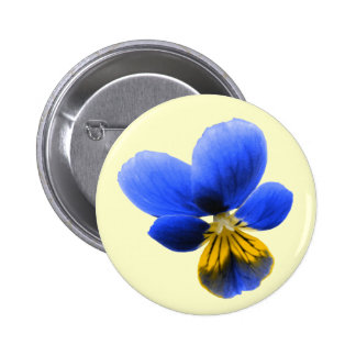 Blue Pansy Button