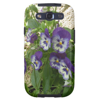 Blue Pansy Galaxy S3 Case