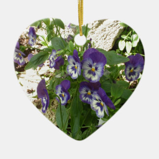 Blue Pansy Ornaments
