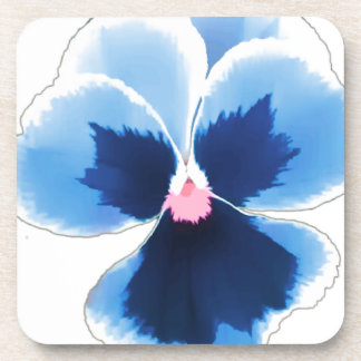 Blue Pansy Flower 201711c Coaster