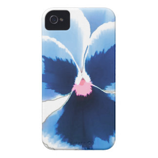 Blue Pansy Flower 201711c iPhone 4 Cases